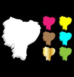 3d map of ecuador vector image