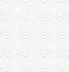 3D white rounded shapes with offset perforated vector image