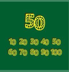 50 anniversary celebration bubble yellow number vector