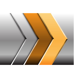 Abstract gold silver arrow design modern future vector