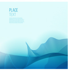 Abstract smooth color wave background vector