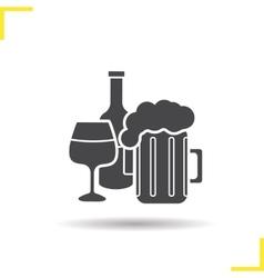 Alcohol icon vector image
