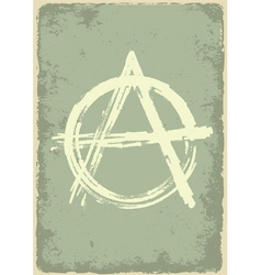 anarchy sign vector image