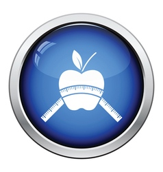 Apple with measure tape icon vector image