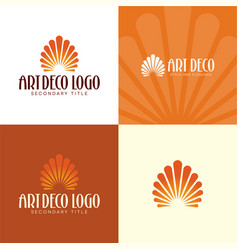 art deco logo and icon vector image