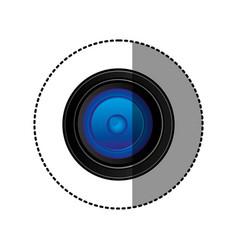 Back camera lense icon vector