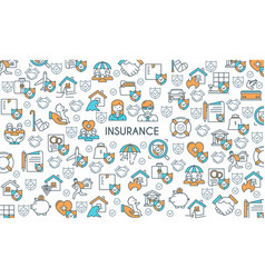 banner on theme insurance vector image
