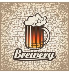 beer wall vector image vector image
