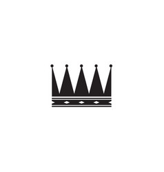 black cartoon king crown isolated on white vector image