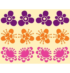 blooming flowers illustrated vector image