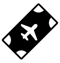 Boarding Pass Flat Icon vector image