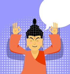 Buddha meditating Buddha in pop art style Indian vector image