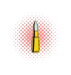 Bullet comics icon vector