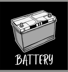 car battery for t shirt design vector image