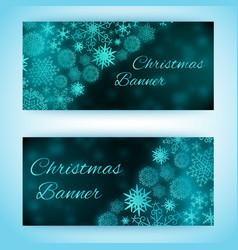 christmas holiday banners set vector image