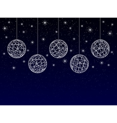 christmas or new year or winter background vector image