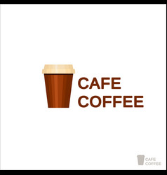 coffee logo for a coffee shop drink paper cup vector image