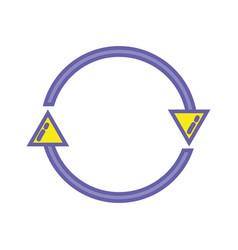color arrows in circle symbol of loading progress vector image