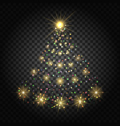 confetti lights christmas tree vector image