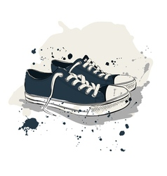 Drawing with sneakers vector image