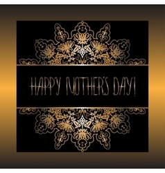 Elegant design of card for Mothers day vector image
