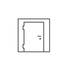 entrance door line outline icon vector image