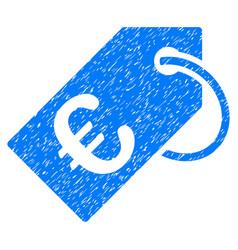 euro tag grunge icon vector image
