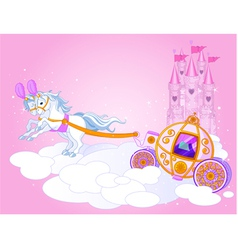 fairy tale carriage vector image