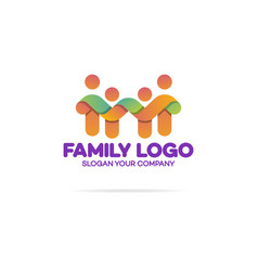 Family logo consisting of simple figures vector