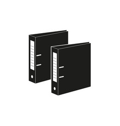 folder for document papers black icons files vector image