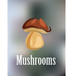 Forest colorful mushroom vector image