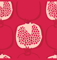 fresh delicious pomegranates seamless pattern vector image