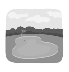 Golf coursegolf club single icon in monochrome vector