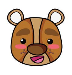Happy bear head wild animal vector