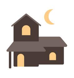 Haunted house flat vector