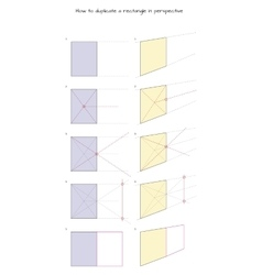 How to duplicate a rectangle in perspective vector