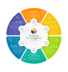 infographic circle template design vector image