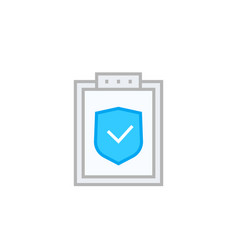 Insurance policy icon on white vector