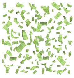 isolated on white money rain fall earnings luck vector image