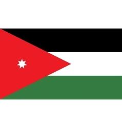 Jordan flag image vector