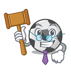 Judge soccer ball on character field vector
