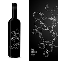 label design for a bottle wine vector image