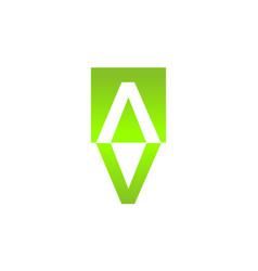 letter av va icon vector image