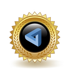 Maidsafe cryptocurrency coin gold badge vector