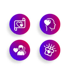 man love friend and love letter icons set vector image