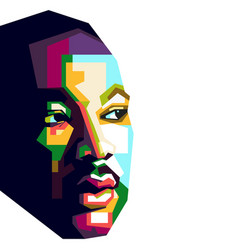 martin luther king in geometric vector image