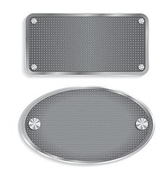 Metal steel plate vector