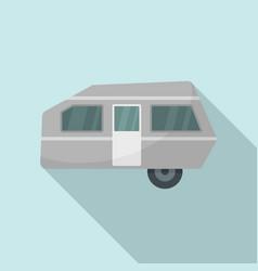 modern camp trailer icon flat style vector image