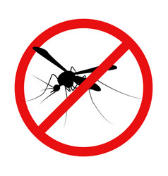 Mosquito warning prohibited sign anti insect vector