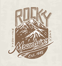 mountains logo camping label trip in the vector image